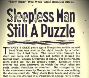 Человек без сна
